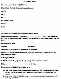 Stud Contract